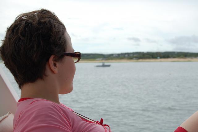 Heather on Grandpa's boat